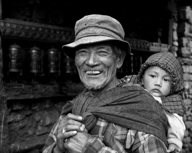 grandfather from manang